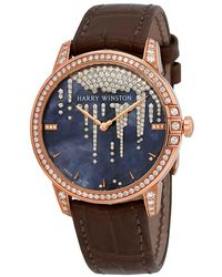 Harry Winston Midnight White Mother Of Pearl Dial Automatic Ladies Watch - Multicolour