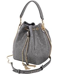 BVLGARI Serpenti Forever Bucket Bag- Gray
