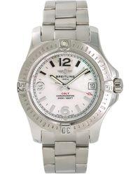 Breitling Pre-owned Colt Quartz White Dial Ladies Watch - Metallic
