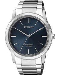Citizen Blue Dial Titanium Mens Watch -82l