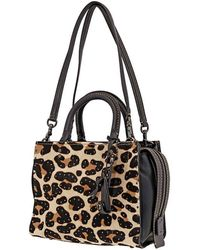 COACH Ladies Satchel Bag 1941 Rogue Leopard Hrcf Lp Rg 25 - Black
