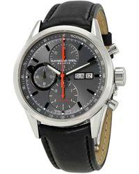 Raymond Weil Freelancer Chronograph Automatic Grey Dial Mens Watch -stc-60112 - Gray