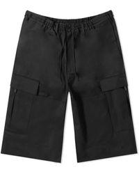 adidas Mens Black Y-3 Wool Stretch Cargo Shorts, Brand