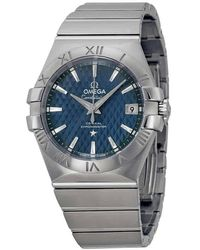Omega Constellation Co-axial Automatic Blue Dial Watch 12310352003002