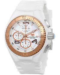 TechnoMarine Cruise Jellyfish Chronograph Silver Dial Ladies Watch 115104 - Metallic