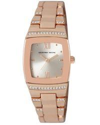 Geoffrey Beene Quartz White Dial Watch - Metallic