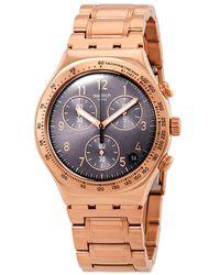 Swatch - Elegantum Chronograph Grey Dial Mens Watch - Lyst