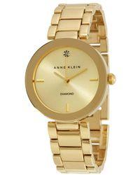 Anne Klein Champagne Dial Ladies Watch - Metallic