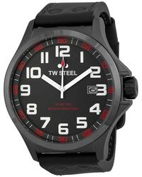 TW Steel Pilot Grey Dial Titanium Pvd Stainless Steel Mens Watch - Gray