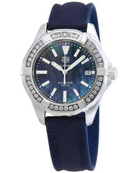 Tag Heuer Aquaracer Diamond Blue Mother Of Pearl Dial Ladies Watch