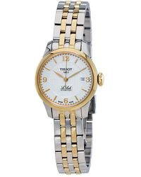 Tissot Le Locle Automatic Silver Dial Two-tone Ladies Watch T41218334 - Metallic