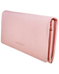 Longchamp Powder Le Foulonne Continental Wallet - Pink