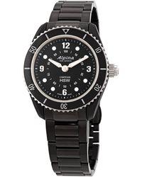 Alpina Comtesse Horologic arm World Time Quartz Black Di Ladies Watch -281bs3v6b - Multicolour