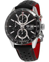 Tag Heuer Carrera Chronograph Automatic Black Dial Mens Watch