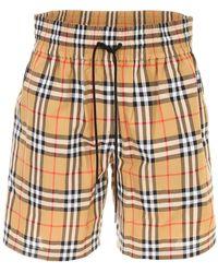 Burberry Camel Check Bermuda Shorts - Yellow