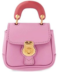Burberry Dk88 Handle Bag Charm In Rose - Pink