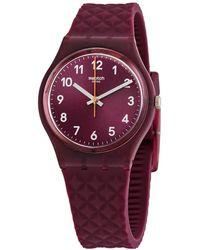 Swatch Rednel Quartz Red Dial Unisex Watch