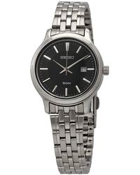 Seiko Neo Classic Quartz Black Dial Ladies Watch