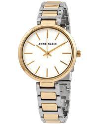 Anne Klein Quartz White Dial Two-tone Watch - Metallic