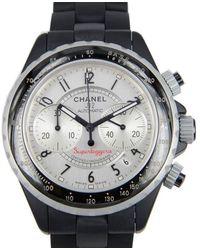 Chanel Superleggera Black Ceramic Chronograph Mens Watch