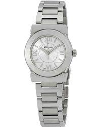 Ferragamo Ferragamo Vega Silver Dial Stainless Steel Ladies Watch - Metallic