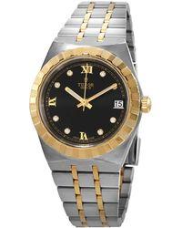 Tudor Royal Automatic Diamond Black Dial 34 Mm Watch -0005 - Metallic