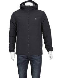 Calvin Klein Mens Quilted Down Logo Jacket In Black