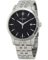Victorinox Alliance Black Dial Stainless Steel Mens Watch - Metallic