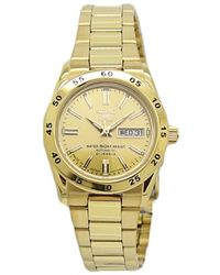 Seiko 5 Automatic Champagne Dial Ladies Watch - Metallic