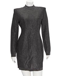 Balmain Ladies Silver Robe Mntnt Decollete Dos, Brand - Metallic