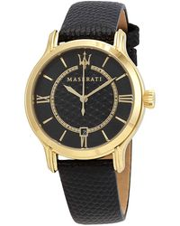 Maserati Epoca Black Dial Ladies Watch