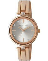 Geoffrey Beene Quartz Silver Dial Watch - Metallic