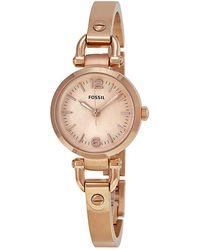 Fossil Georgia Rose Dial Rose Gold-tone Watch - Metallic