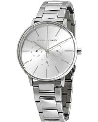 Armani Exchange - Lola Multifunction Silver Dial Ladies Watch - Lyst