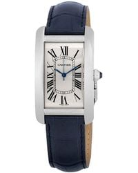 Cartier Tank Americaine Automatic Silver Dial Mens Watch - Metallic