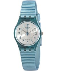 Swatch Phard Kissed Quartz Silver Dial Ladies Watch - Blue