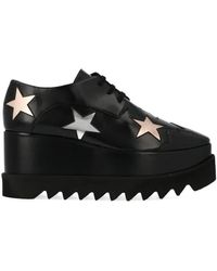 Stella McCartney Elyse Star Platform Shoes, Brand - Black