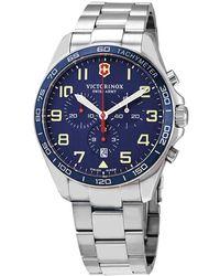 Victorinox Fieldforce Chronograph Quartz Blue Dial Mens Watch