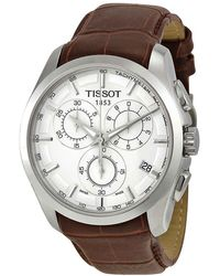 Tissot Couturier Chronograph Silver Dial Mens Watch T0356171603100 - Metallic