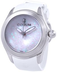 Corum Bubble 42 Automatic White Dial Watch  Ob01 - Metallic
