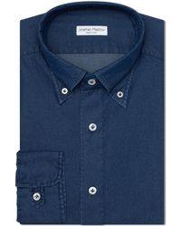 Jonathan Mezibov Gordon Denim Shirt - Blue