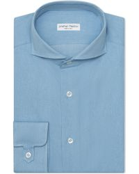 Jonathan Mezibov Pearson Bleached Denim Shirt - Blue