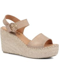Jones Bootmaker Lorena Platform Wedge Sandals - Metallic