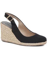 Jones Bootmaker Kate Slingback Wedge Heels - Black