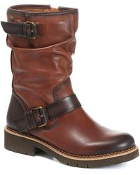 Pikolinos Mid-calf Leather Slouch Boot - Brown