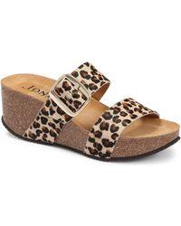 Jones Bootmaker Selena Mule Wedge Sandal - Brown