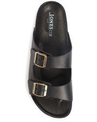 Jones Bootmaker Woolwich Dual Strap Mule Sandals - Brown