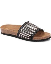 Jones Bootmaker Flat Mule Sandal - Black