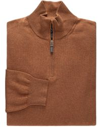 Jos. A. Bank - Signature Pima Cotton Quarter-zip Sweater Big And Tall - Lyst