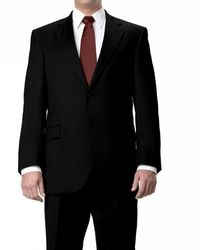 Jos. A. Bank Signature 2-button Wool Suit With Plain Front Pants Big And Tall - Black